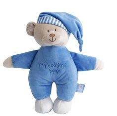 Wingingkids Soothing Slumbers Bedtime Stuffed Animal  Cozy Plush Bear Buddy Bear Blue * Click image to review more details.-It is an affiliate link to Amazon.