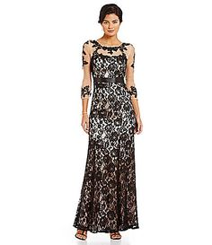 Decode 18 Illusion Lace Gown #Dillards