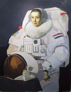 "William P. Immer: Astro-Lady, 20""x16"", Oil on Canvas, 2010"