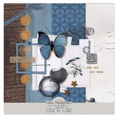Mixed Media Kitet - Steel & Slate by Vinnie Pearce @ ScrapbookGraphics.com
