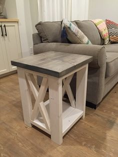 Diy Living Room Furniture Plans Best Couch For A Small 25 Side Table Ideas With Lots Of Tutorials My Forever House Farmhouse