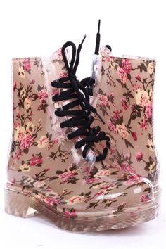 bottes de pluie a fleurs | bottes de pluie | Pinterest | Rain boot ...