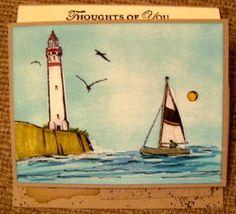 Triple Easel Beach Card (closed)