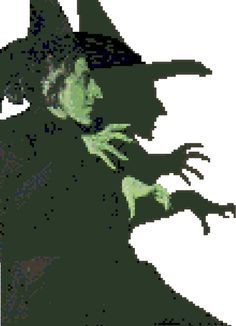 Wicked Witch of the West Counted Cross Stitch by robinsdesign, $5.00