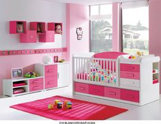 This write-up uses some excellent concepts that will certainly help them develop really enchanting hello kitty bedroom decoration. Baby Bedroom, Baby Room Decor, Girls Bedroom, Bedroom Decor, Bedroom Ideas, Hello Kitty Nursery, Hello Kitty Rooms, Pink Room, Little Girl Rooms