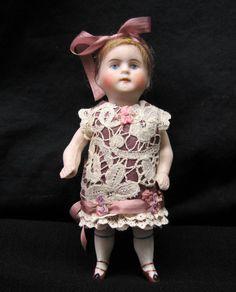 "Silk Dress for a 5"" Antique Doll Mignonette All Bisque Kestner Dollhouse | Dolls & Bears, Dolls, Antique (Pre-1930) | eBay!"