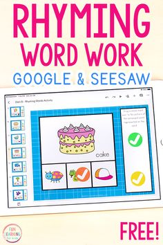Rhyming Words Activity for Google Slides and Seesaw