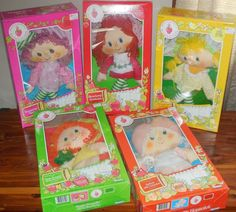 vintage strawberry shortcake rag doll collection mint condition