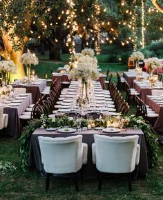 Though these rectangular tables are wider than ours, we could still help create this feel with several eight foot rectangular tables setup near each other.