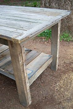 $2 Farmhouse Table...from cast-off decking and pallets | Do It Yourself Home Projects from Ana White