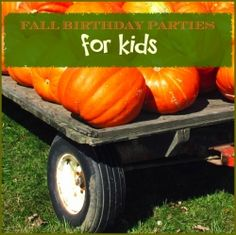 Are you looking for unique ideas for a child's autumn-fall birthday party? I have gathered a couple of ideas here for a fall harvest themed party....