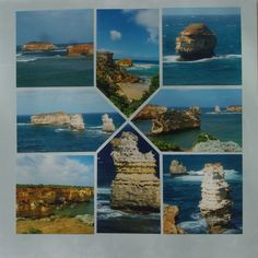 Photo collage designed by Betty Roberts using Card Tricks Stencil.