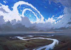 As surreais ilustrações nas nuvens de Artem Cheboha a.k.a. Rhads