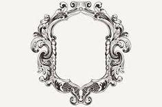 Resultado de imagen para vintage oval frames vector
