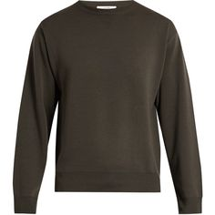 Adam Lippes Crew-neck wool sweater ($550) ❤ liked on Polyvore featuring men's fashion, men's clothing, men's sweaters, mens green sweater, mens crewneck sweaters, men's wool crew neck sweaters, mens crew neck sweaters and mens wool sweaters