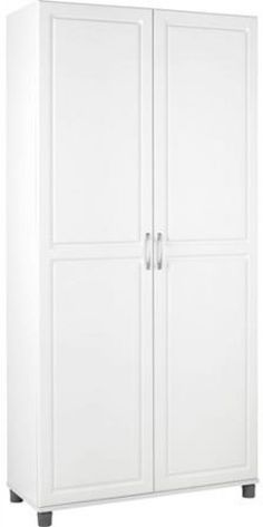 Utility Storage Cabinet Kitchen Food Pantry Linen Closet Cupboard Furniture #Ameriwood