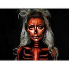 "2,773 Likes, 56 Comments - (@typical_white_girl_sfx) on Instagram: "" Pumpkin Skeleton @bennyemakeup water activated paints @morphebrushes @jaclynhill pallet for…"""