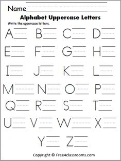Free Uppercase Letter Writing Worksheet – The wiring diagram collection Capital Letters Worksheet, Letter Writing Worksheets, Alphabet Writing Practice, Letter Writing For Kids, Printable Worksheets, Writing Alphabet Letters, Free Printable, Printable Alphabet, Printables