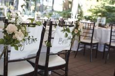 Bride + Groom Canvas Chair Hangers