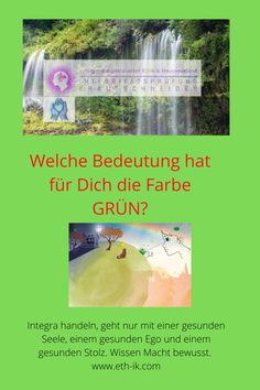 """Wie wird die Farbe Grün Kinder erklärt?  Grün bedeutet Fruchtbarkeit. Etymologisch kommt das Wort vom germanischen """"ghro"""", was soviel wie """"Wachsen"""" oder """"Gedeihen"""" bedeutet. Blätter sind wegen des Chlorophylls grün, doch der Farbstoff lässt sich besser aus Grüner Erde (Eisen(II)-silikat, Magnesiumsilikat mit Tonanteilen), Malachit oder Grünspan gewinnen. Green Earth, Fertility, Malachite, Business, Colors, Kids"""