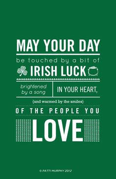 St. Patrick's Day, Irish Blessing poster printed on thick luscious paper. $40 via etsy shop. #St Patricks Day