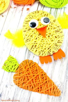Easter Crafts for Kids, These Adorable Yarn Crafts for Preschoolers and Easy Easter Crafts for Preschoolers are so much fun! Add these to your Preschool Easter activities, Just a few items needed to create this cute Easter craft Kids Love to Make, Yarn Crafts For Kids, Easter Activities For Kids, Christmas Crafts For Toddlers, Spring Crafts For Kids, Bunny Crafts, Easter Crafts For Kids, Toddler Crafts, Preschool Crafts, Craft Kids