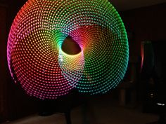 Moodhoops FutureHoop.  I must get one of these, it's a living spyrograph!  LED, multi color hula hoop.