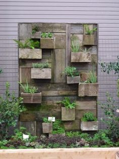 Love this display from Portland's Yard, Garden and Patio Show. (2013 Urban Edible Garden)