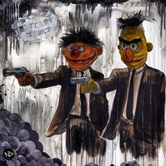 """Pulp Fiction/Sesame Street"""