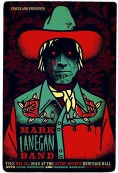 Mark Lanegan Band gig poster by Ivan Minsloff Tour Posters, Band Posters, Music Posters, Event Posters, Mark Lanegan, Pochette Album, Rock And Roll Bands, Music Artwork, Rockn Roll