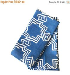 Holiday Season Sale Blue Block Printed by TheWhitePetalsDecor