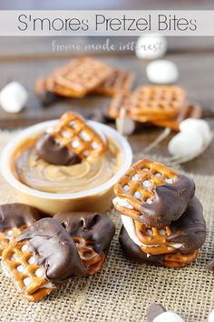 Salty, sweet, crunchy, gooey, these s'mores pretzel bites are the perfect on-the-go solution for s'mores lovers!