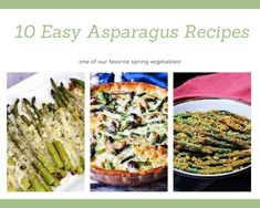 Head to the produce aisle and you'll probably find it overflowing with asparagus. It's one of our favorite spring and early summer veggies because it is a great source of. Easy Asparagus Recipes, Parmesan Asparagus, Asparagus And Mushrooms, Asparagus Fries, Baked Asparagus, Vegetable Recipes, Asparagus Meals, Vegetable Entrees, Potato Recipes