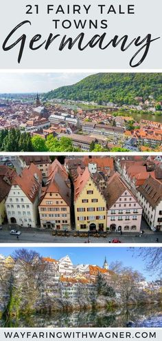 Nestled between colorful architecture, cobblestone streets, and winding alleyways, these are 21 fairy tale towns in Germany not to miss on your next trip to Germany! #EuropeTravel #Germany #FairyTale via @jordanbwagner