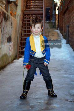 Beasty Boy Beauty and The Beast - veste de smoking bleu w / queues - princesse Belle Birthday Party - garçon Prince Adam - Halloween habit d...