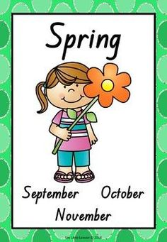 Seasons Posters QLD Beginners Font by My Little Lesson Seasons Activities, Kindergarten Math Activities, Teaching Phonics, Book Activities, Teaching Resources, Weather For Kids, All About Me Poster, Teaching Weather, Seasons Posters