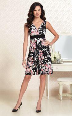 Petal Festival: Soma Sleeveless Pleated Dress in Seasons Floral Print #LoveSoma #SomaIntimates #pink
