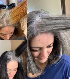 10 Times Jack Martin Helped His Clients Go Gray - Hair Color - Modern Salon Grey Hair Transformation, Curly Hair Styles, Natural Hair Styles, Gray Hair Highlights, Gray Hair Growing Out, Jack Martin, Transition To Gray Hair, Silver Grey Hair, Brown Hair Going Grey