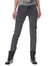 Terranovastyle.com - Black elasticated denim skinny jeans. Slim fit, 5-pocket style with zip and double button fastening
