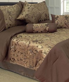 Take a look at this Wanquan Jacquard Lavish Home Comforter Set by Trademark Global on #zulily today!