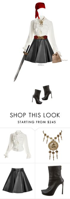 """""""pirate costume"""" by cloudosaurus ❤ liked on Polyvore featuring Vivienne Westwood, Trifari, MSGM and Lanvin"""