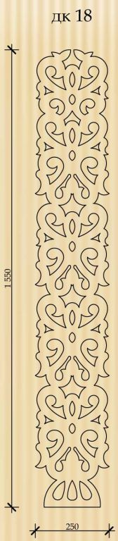 vertical border stencil