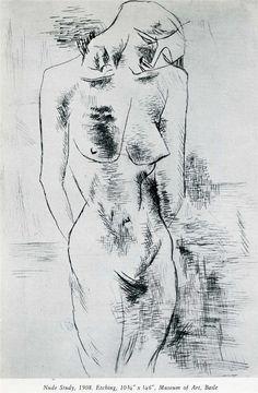 Nude study, 1908 ~ George Braque