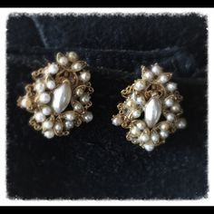 VINTAGE DESIGNER EARRINGS Marked  Fiorenza, made in Italy. Circa '50's! Love these! I took a similar pair and had them made into pierced earrings but these are just too amazing as accessories such as boot clips, brooches, so many ways to wear them! Truly my favorite piece! Any questions please ask! Marked as such because you must be a vintage lover to appreciate these and ✅OFFER✅ accordingly! Thanks for browsing! Marian Vintage Jewelry Earrings