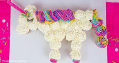 How to Make a Unicorn Cupcake Cake - Press Print Party Unicorn Cupcakes Cake, Diy Unicorn Cake, Horse Cupcake, Cupcake Cakes, Cupcakes Kids, Unicorn Themed Birthday, Adult Birthday Cakes, Themed Birthday Cakes, Birthday Cupcakes
