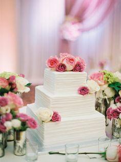 square-wedding-cake-textured-buttercream-custom-cake-design wedding cakes Washington DC Corporate Events and Wedding Planning Square Wedding Cakes, Floral Wedding Cakes, Square Cakes, Wedding Cake Designs, Cake Wedding, Mr Mrs Cake Toppers, Rustic Cake Toppers, Trendy Wedding, Rustic Wedding