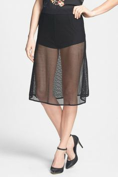 Dirty Ballerina Mesh A-Line Skirt