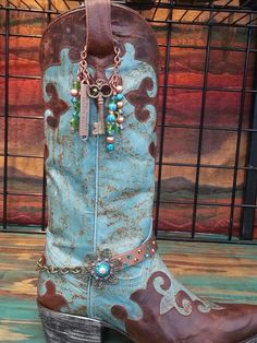 """Boot bracelet - www.gold-duster.com ... great looking """"stuff"""" for the bling-bling cowgirl, which describes me!!!"""