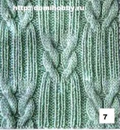 Knitting patterns with braids