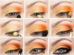 Maquillaje en naranja. ♥A